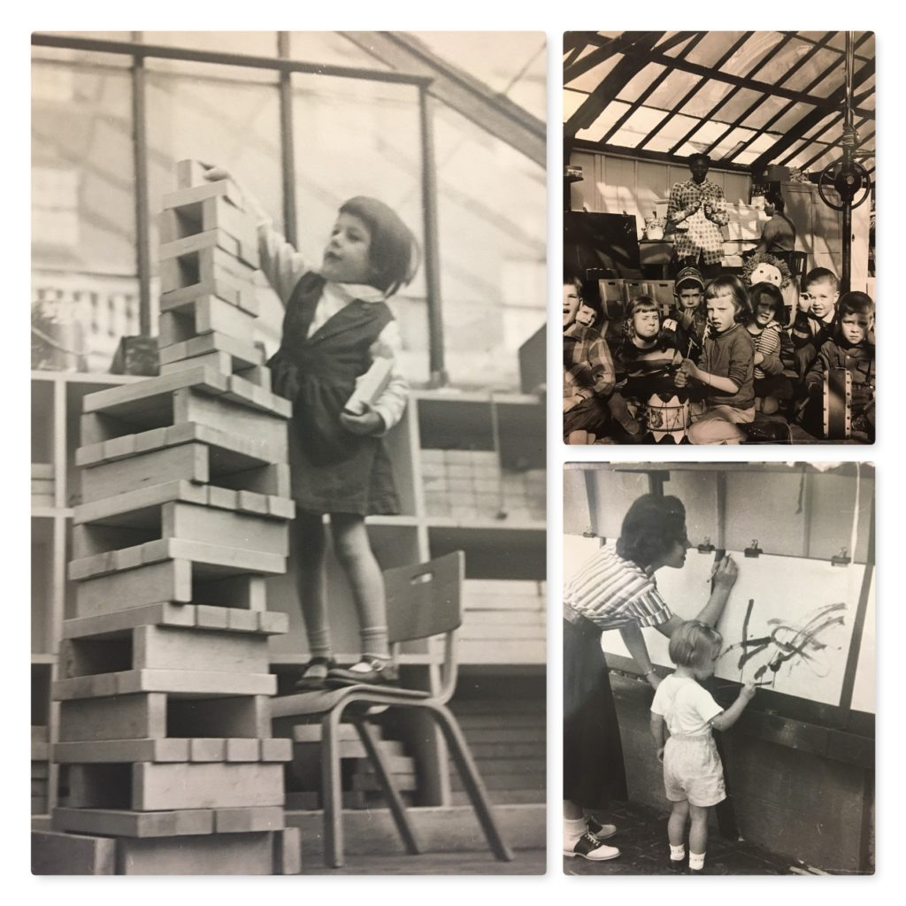 1940: Classic tools of early childhood including, blocks, paint and song were found inside the greenhouse
